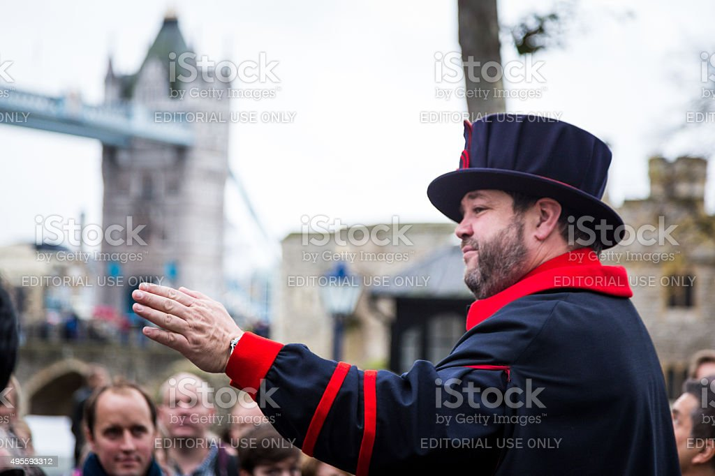 Beefeater at the Tower of London, London, UK
