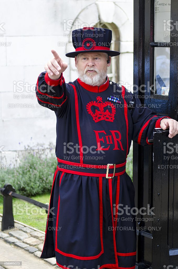 Beefeater, Tower of London royalty-free stock photo