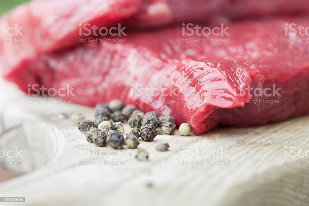Beefsteak with peppercorns royalty-free stock photo