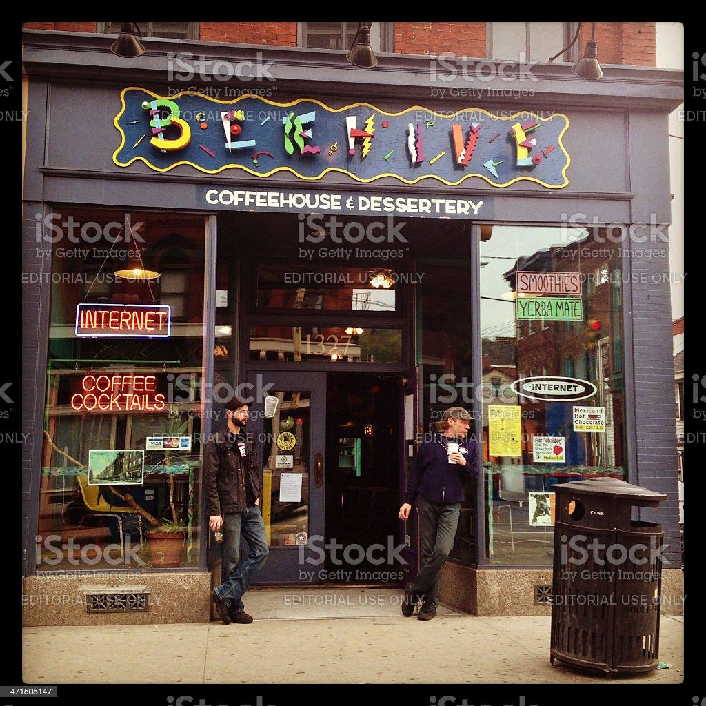 Beehive Coffeehouse royalty-free stock photo