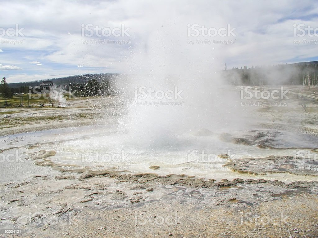 Beehive Geyser royalty-free stock photo