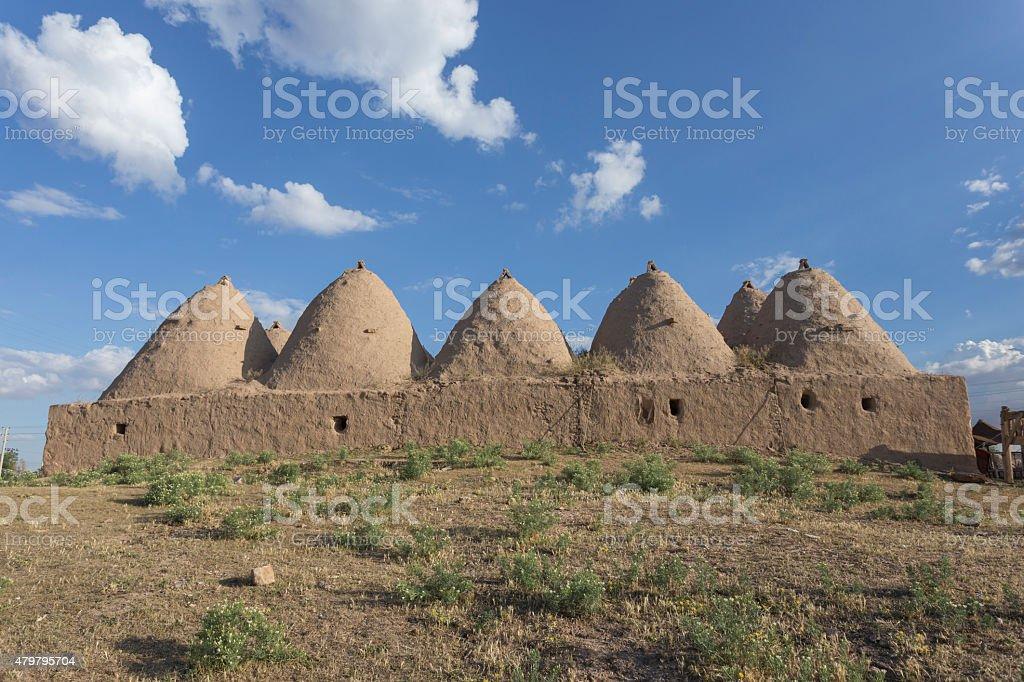 Beehive house at Harran, Turkey stock photo