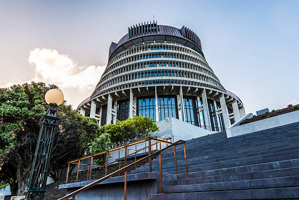 Beehive in Wellington The Parliament Building in Wellington wellington new zealand stock pictures, royalty-free photos & images