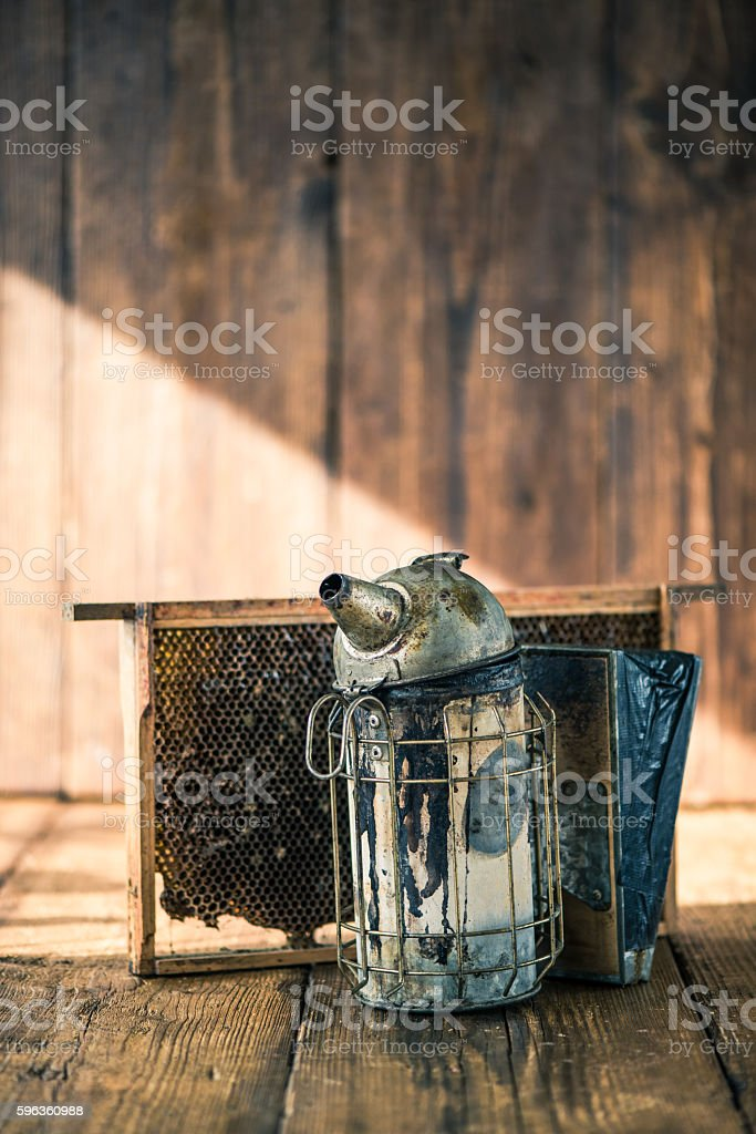 Beekeeper vintage tools royalty-free stock photo
