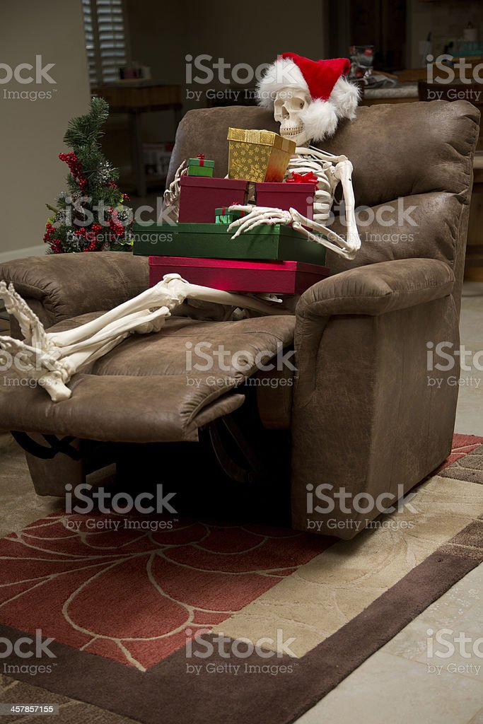 Been Waiting A Long Time For Christmas stock photo
