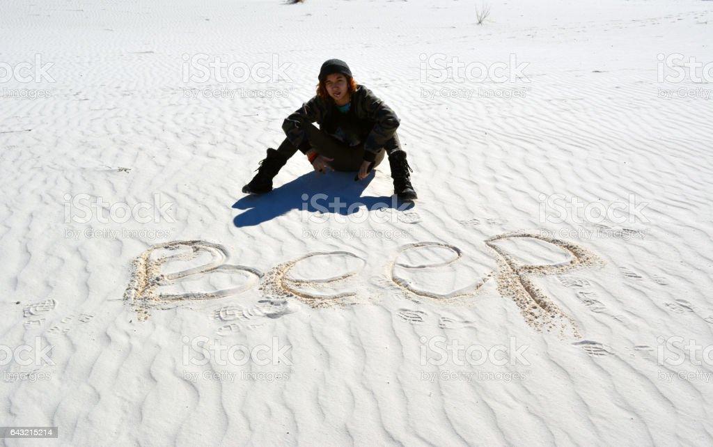 Beep Sand Dune stock photo