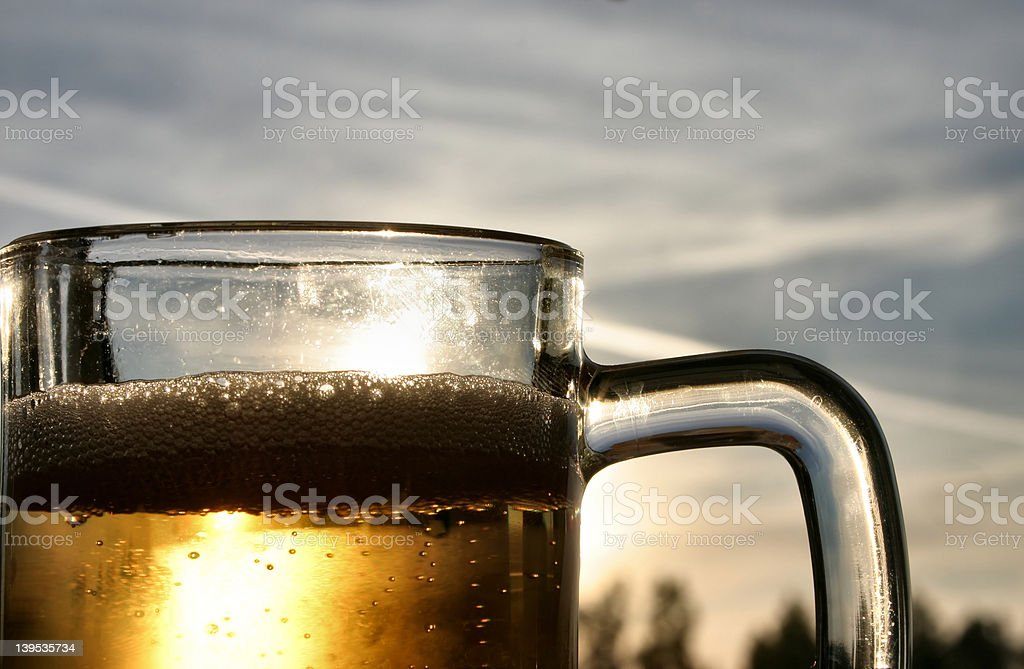 beer against the sky royalty-free stock photo