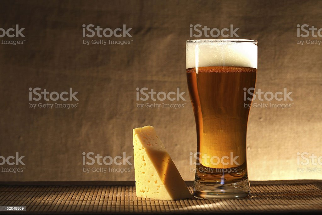 Beer And Cheese stock photo