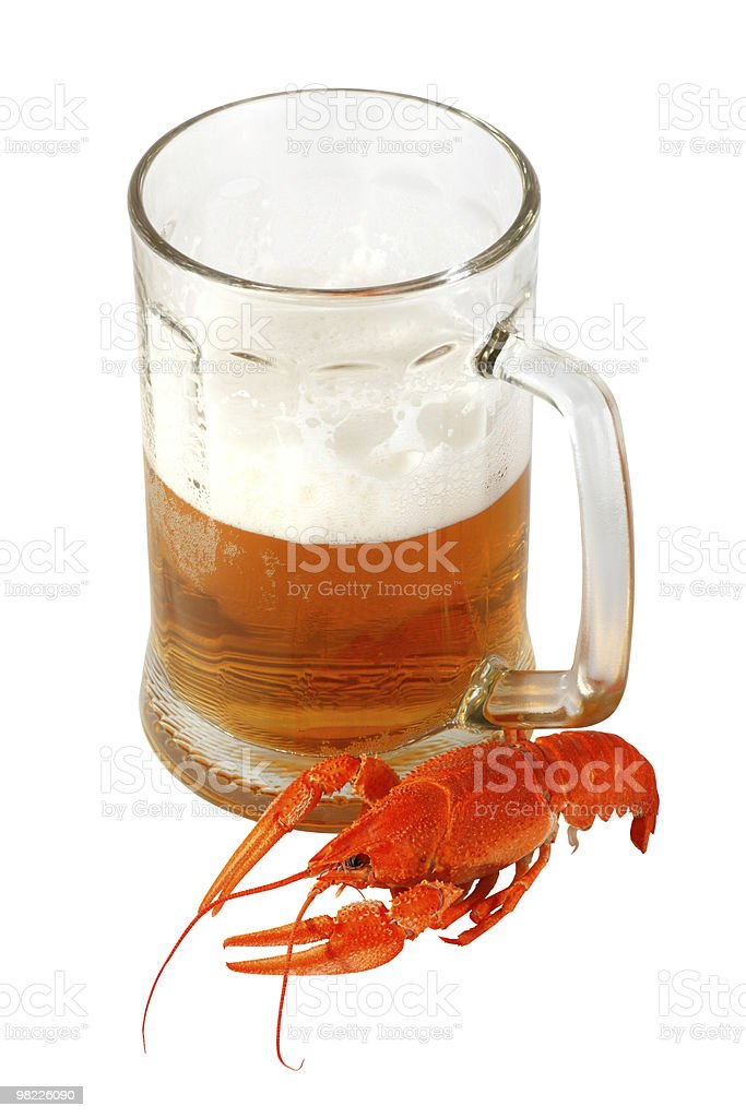 Beer and crawfish royalty-free stock photo