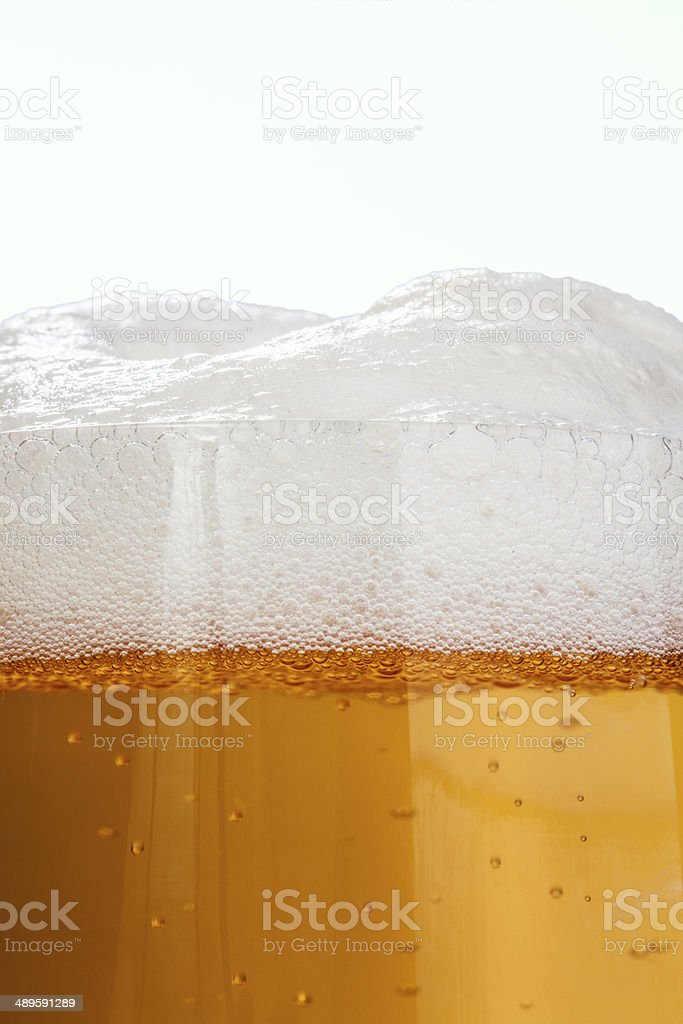 Beer and foam stock photo