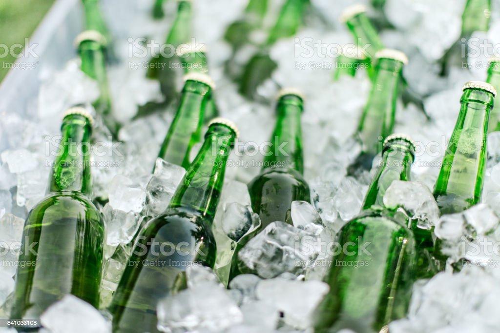Cerveza y el hielo - foto de stock