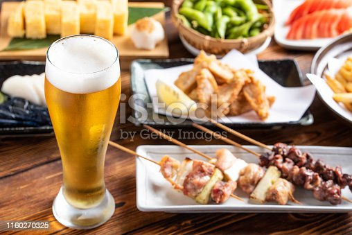 istock beer and japanese izakaya popular plates 1160270325