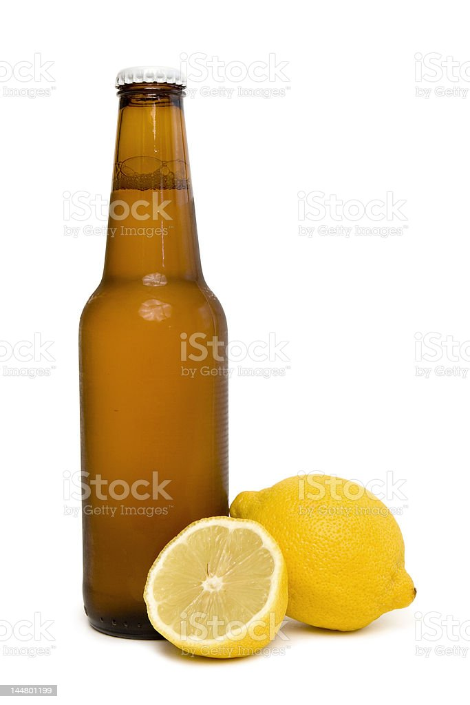 Beer and lemon royalty-free stock photo