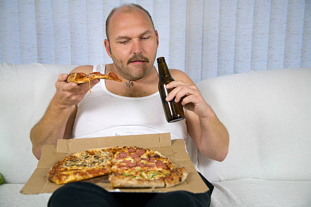 Fat Guy Eating Pizza Gif