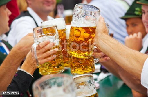istock Beer at Oktoberfest in Munich, Germany 157505356