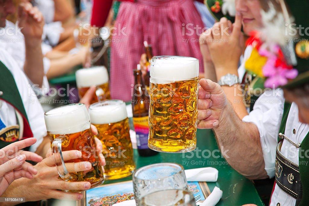 Beer at Oktoberfest stock photo