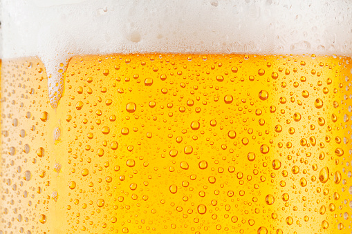 Beer Background     Ice Cold Pint With Water Drops Condensation