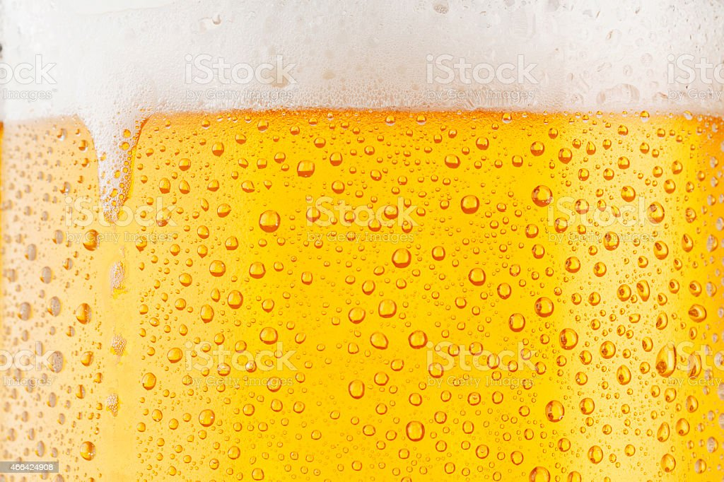 Beer Background     Ice Cold Pint With Water Drops Condensation stock photo