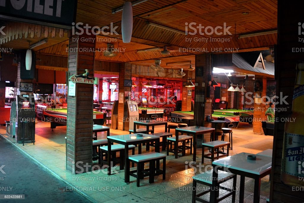 Beer bar in Pattaya, Thailand stock photo