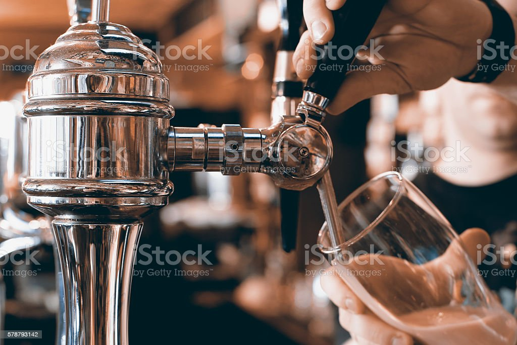 Beer bar pub stock photo