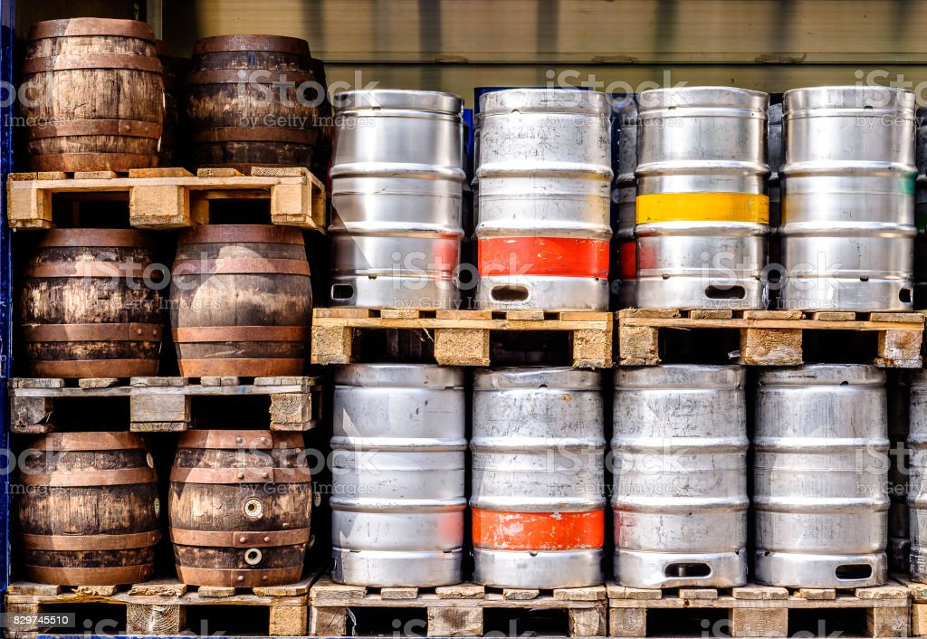 beer barrel stock photo
