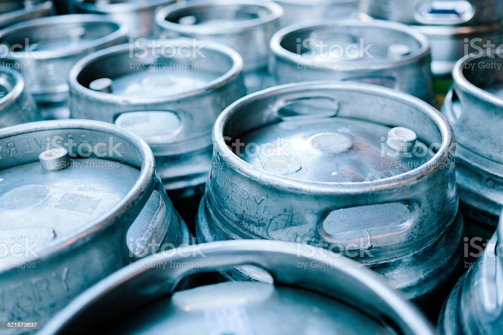 Beer barrels stock photo