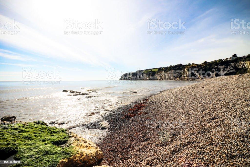 Beer beach in Devon stock photo