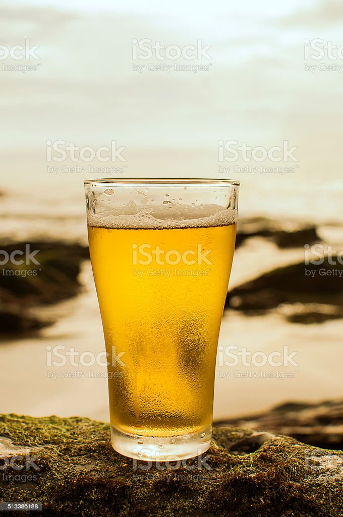 Beer , beach , Thailand stock photo