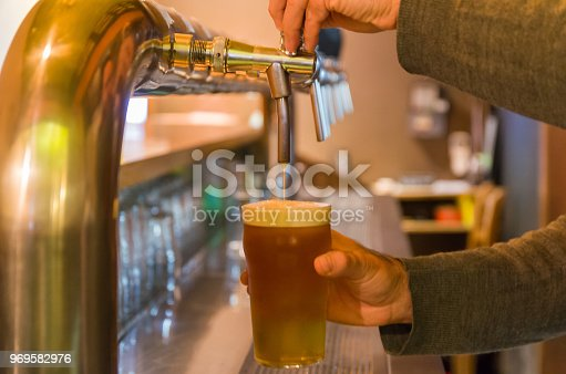 istock Beer being taken from the tap in brewpub 969582976