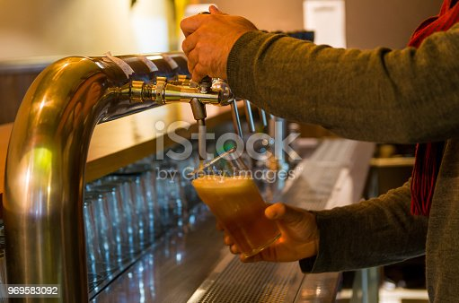 istock Beer being taken from the tap in brewpub 969583092