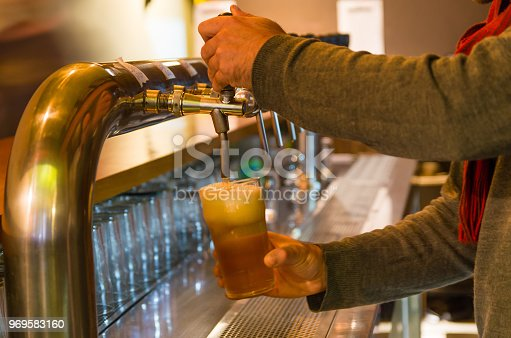 istock Beer being taken from the tap in brewpub 969583160