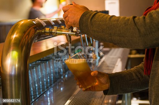 istock Beer being taken from the tap in brewpub 969583174