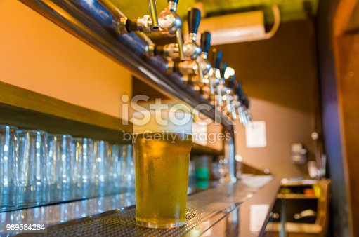 istock Beer being taken from the tap in brewpub 969584264