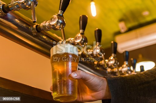 istock Beer being taken from the tap in brewpub 969584268