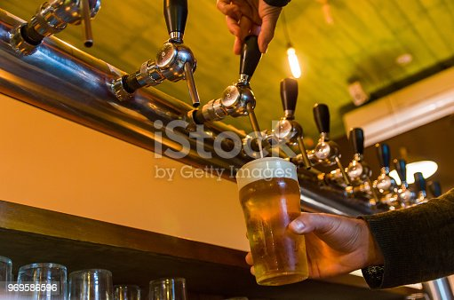 istock Beer being taken from the tap in brewpub 969586596