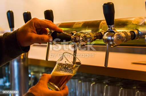 istock Beer being taken from the tap in brewpub 969586990