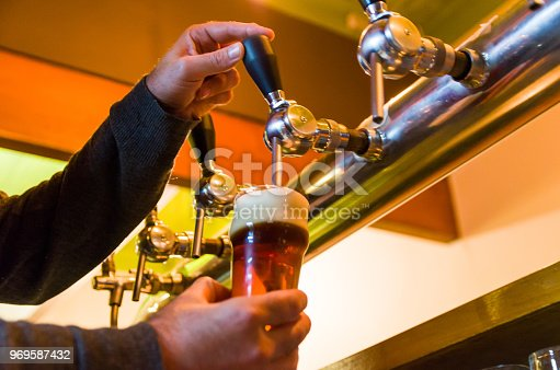 istock Beer being taken from the tap in brewpub 969587432