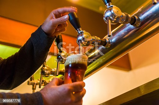 istock Beer being taken from the tap in brewpub 969587776