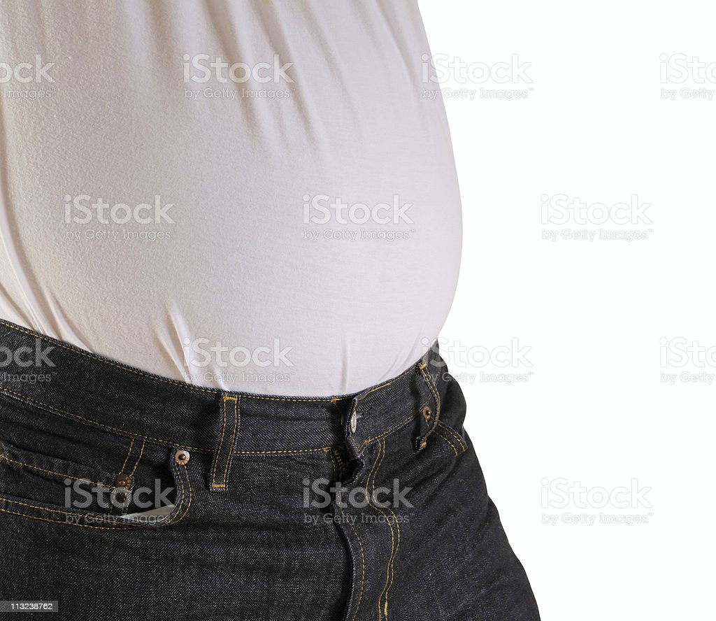 beer belly royalty-free stock photo