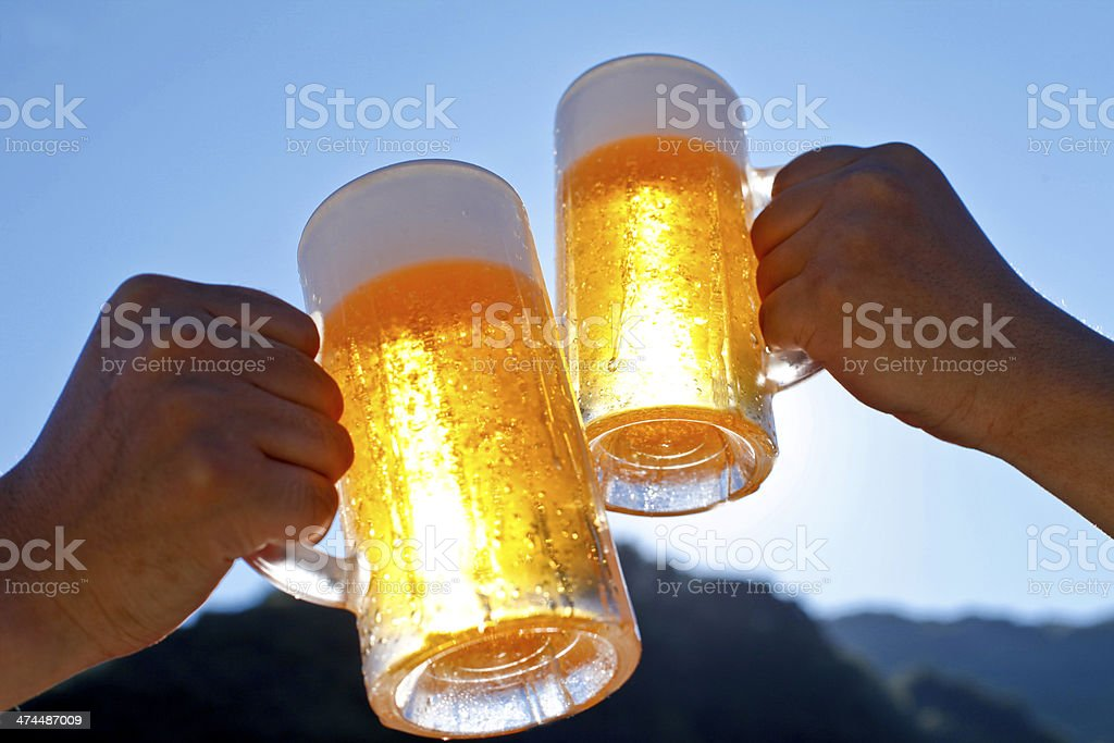 Beer, blue sky royalty-free stock photo