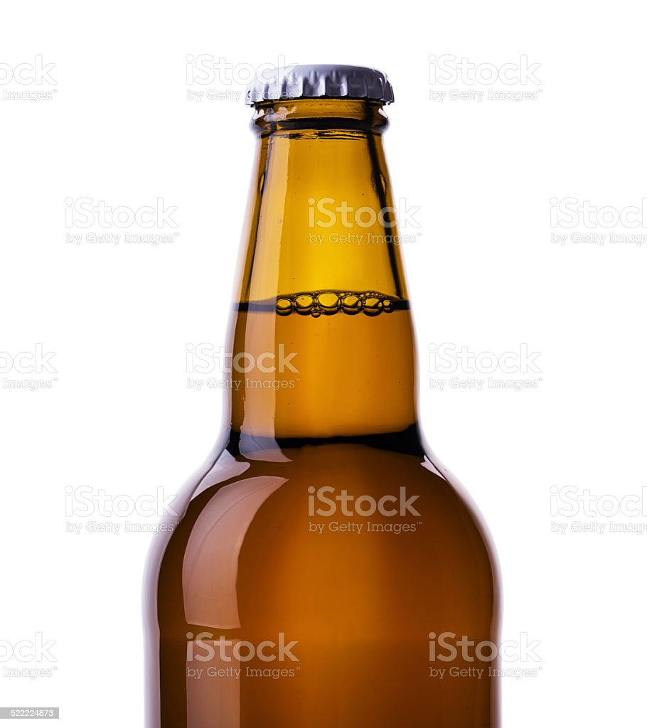 beer bottle brown stock photo