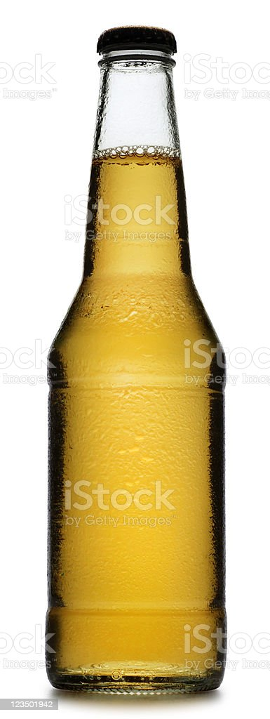 Beer Bottle Isolated on a White Background stock photo