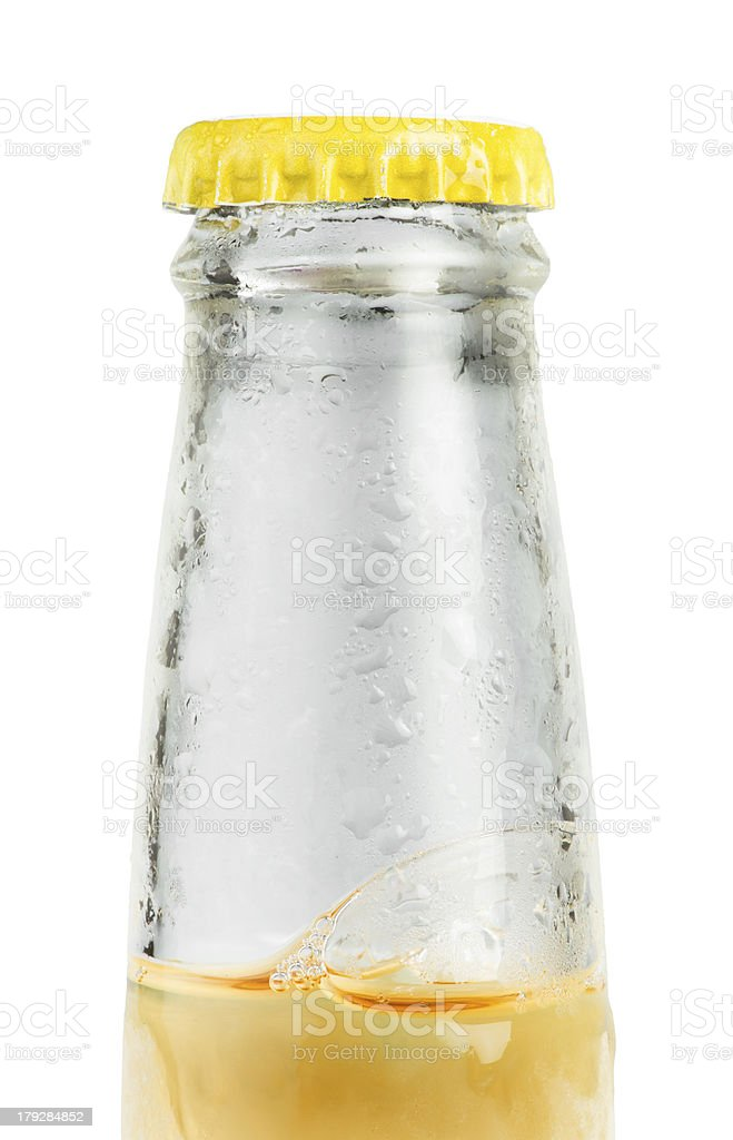 Beer bottle isolated royalty-free stock photo