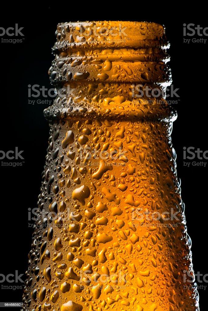 맥주병 접사를 royalty-free 스톡 사진