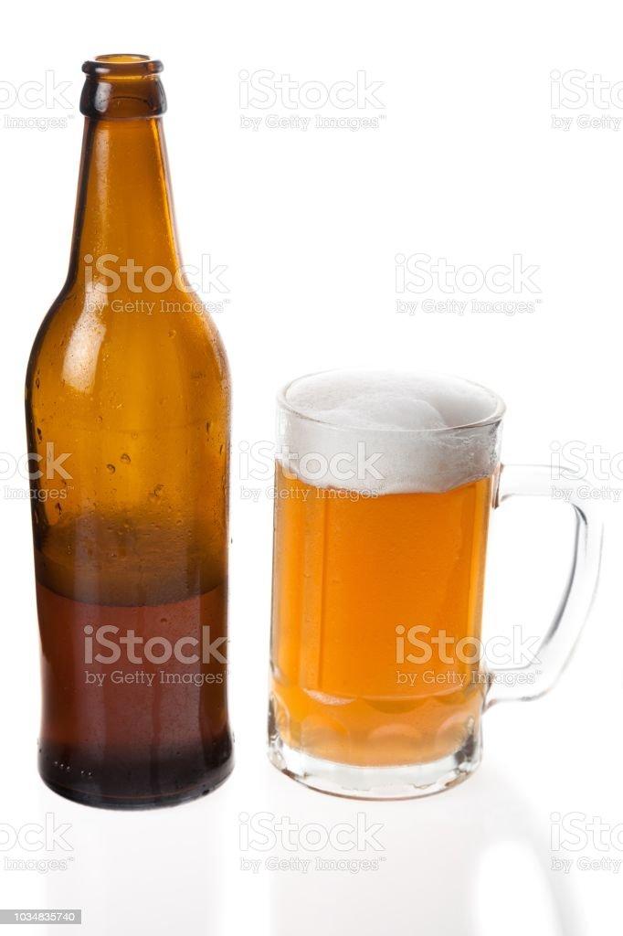 Beer bottle. stock photo