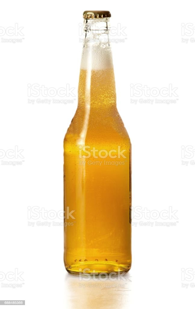 Beer bottle. stock photo