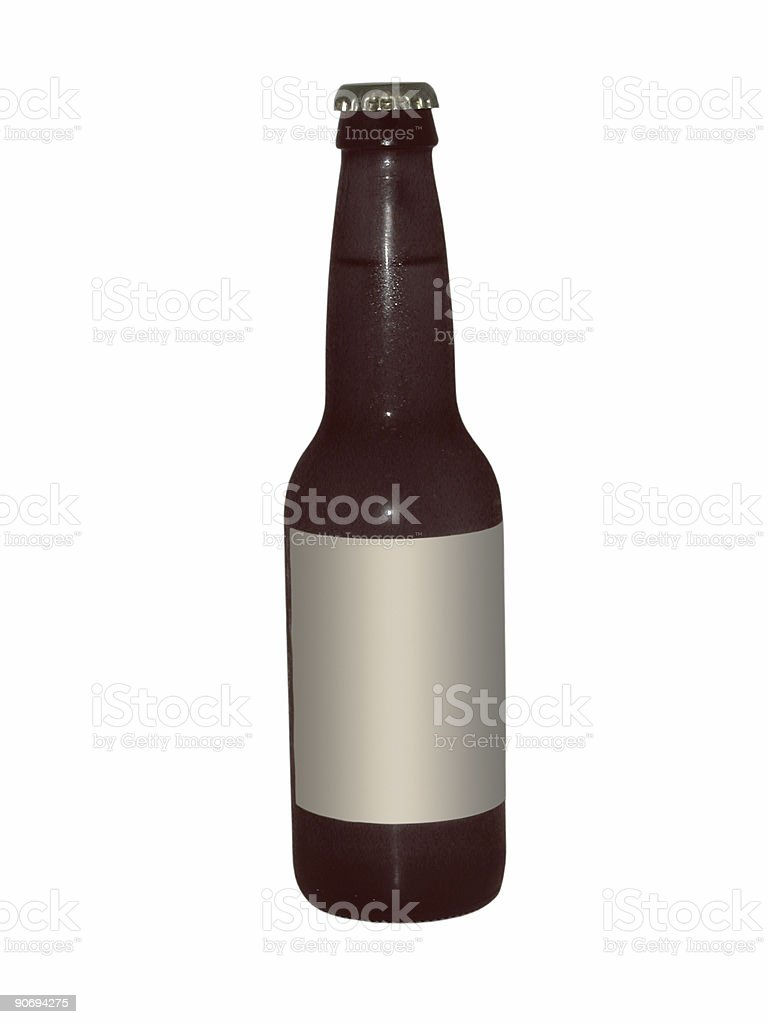 beer bottle (with paths) royalty-free stock photo