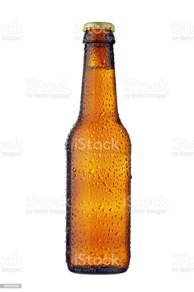 Bottiglia di birra foto stock royalty-free