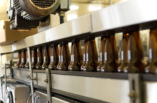 Beer Bottle Production Line stock photo