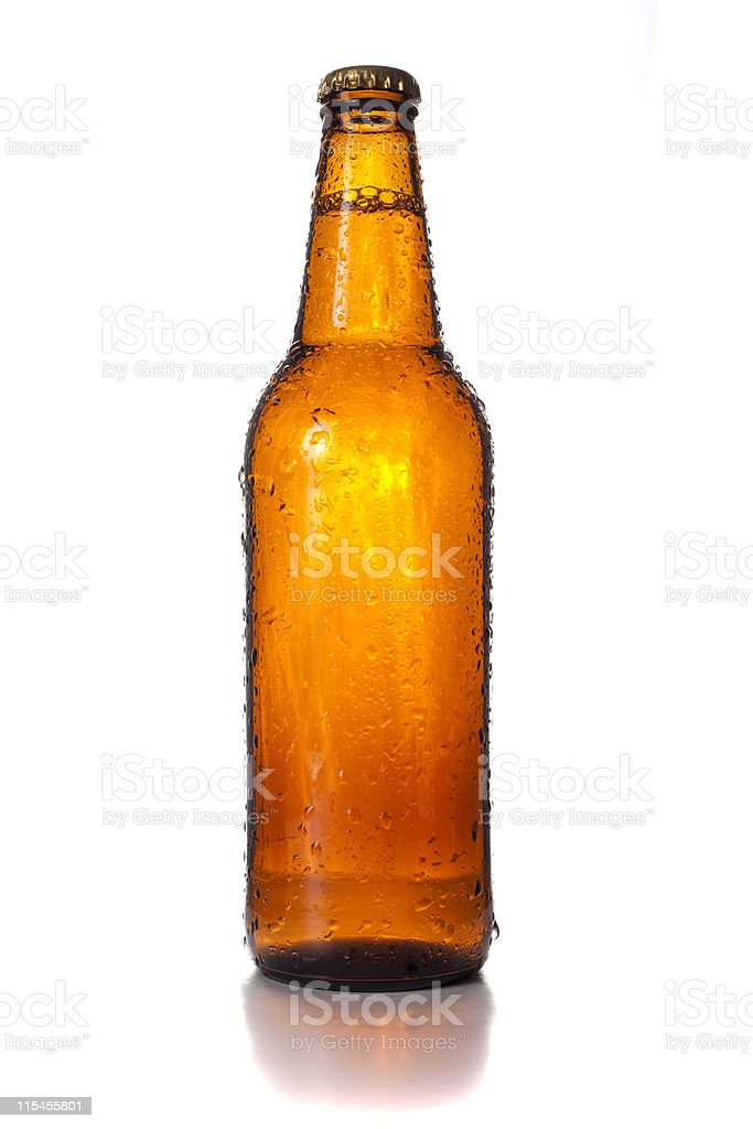 Beer Bottle with Condensation XXXL royalty-free stock photo
